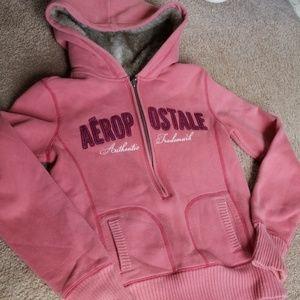 NWOT Fur lined hoodie